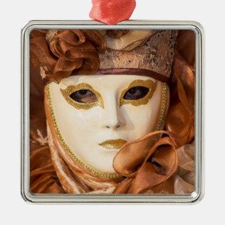 Orange Carnival costume, Venice Metal Ornament