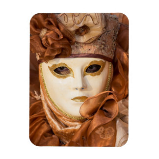 Orange Carnival costume, Venice Rectangular Photo Magnet