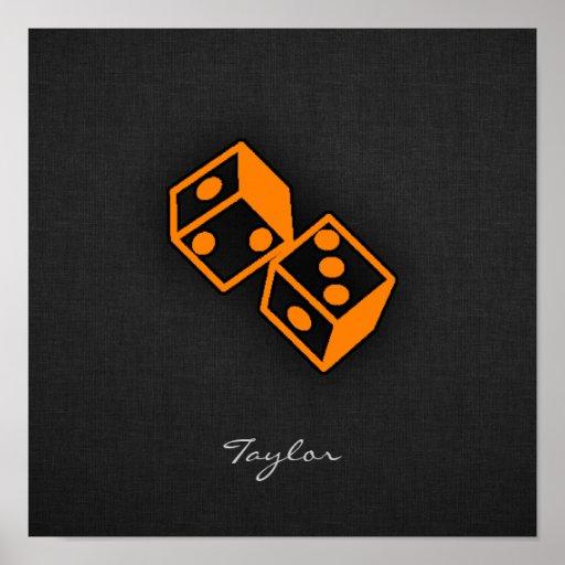 Orange Casino Dice Posters