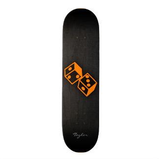 Orange Casino Dice Skateboard Deck