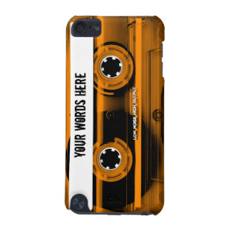 Orange Cassette Tape Personalized iPod Touch (5th Generation) Covers