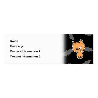 Orange Cat and Bats. Business Card