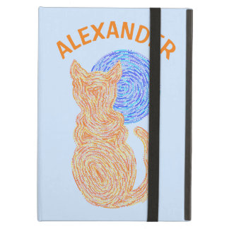 Orange Cat And The Moon Cat Lover Feline Kitten iPad Air Cases