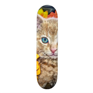 Orange Cat Custom Pro Park Board 20 Cm Skateboard Deck