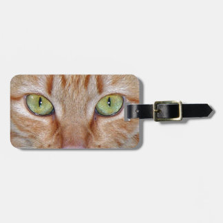 Orange Cat Eyes Travel Bag Tag