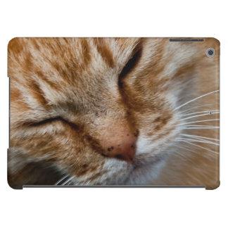 Orange cat face iPad air cover