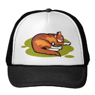 Orange Cat Mesh Hats