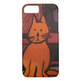 Orange Cat Painting iPhone 7 Case