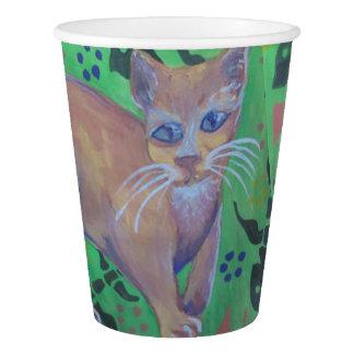 orange cat paper cup