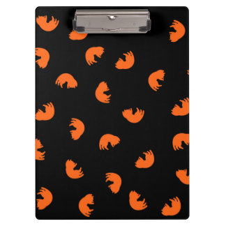 Orange Cat Pattern Clipboard