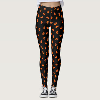 Orange Cat Pattern Leggings