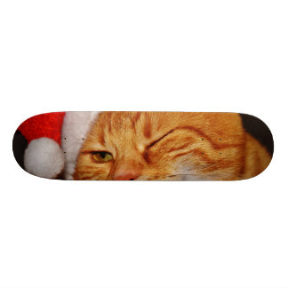 Orange cat - Santa claus cat - merry christmas 21.6 Cm Skateboard Deck