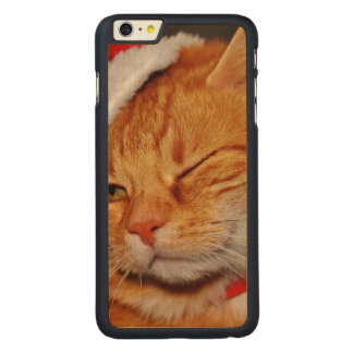Orange cat - Santa claus cat - merry christmas Carved Maple iPhone 6 Plus Case