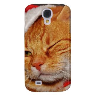 Orange cat - Santa claus cat - merry christmas Galaxy S4 Case