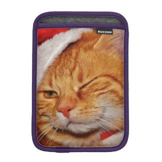 Orange cat - Santa claus cat - merry christmas iPad Mini Sleeve