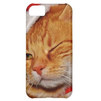 Orange cat - Santa claus cat - merry christmas iPhone 5C Case