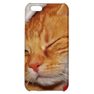 Orange cat - Santa claus cat - merry christmas iPhone 5C Cover