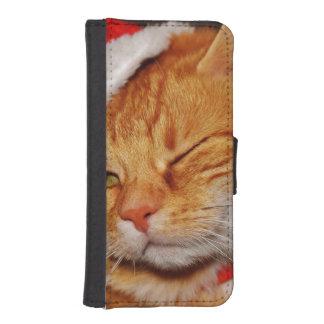 Orange cat - Santa claus cat - merry christmas iPhone SE/5/5s Wallet Case