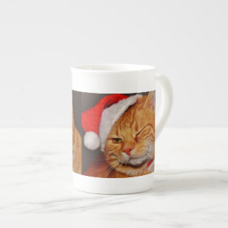 Orange cat - Santa claus cat - merry christmas Tea Cup