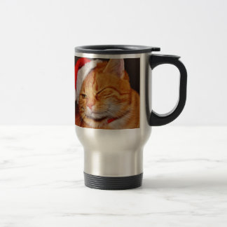 Orange cat - Santa claus cat - merry christmas Travel Mug