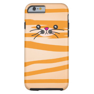 Orange Cat Tough iPhone 6 Case