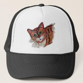 Orange Cat Trucker Hat