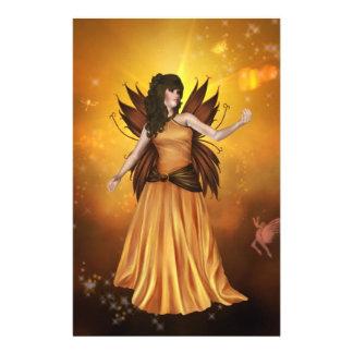 Orange Celestial Fairy Stationery