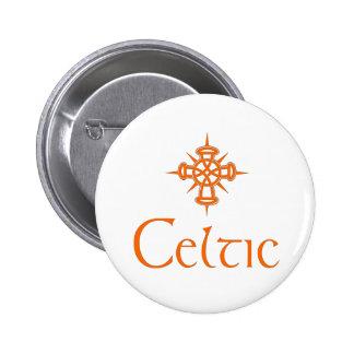 Orange Celtic with Cross Button