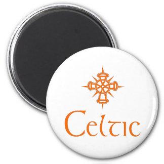 Orange Celtic with Cross Fridge Magnets