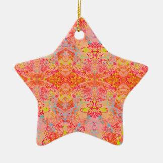 orange ceramic star decoration