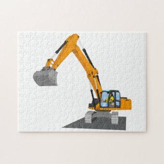 orange chain excavator jigsaw puzzle