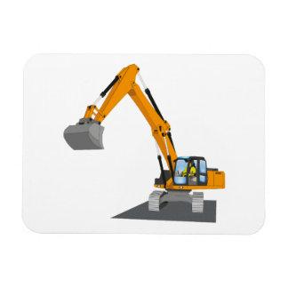 orange chain excavator magnet