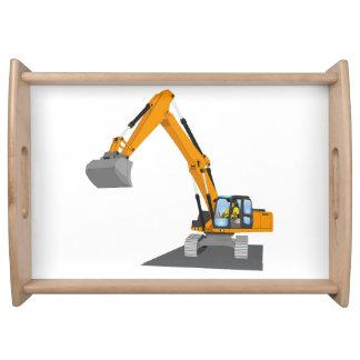 orange chain excavator serving tray