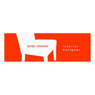 Orange Chair Skinny Business Card