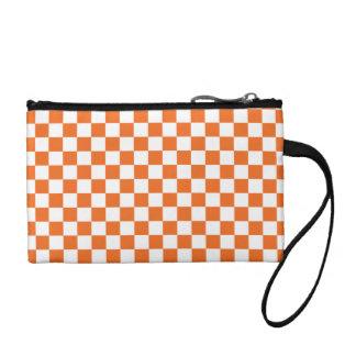 Orange Checkerboard Coin Purse