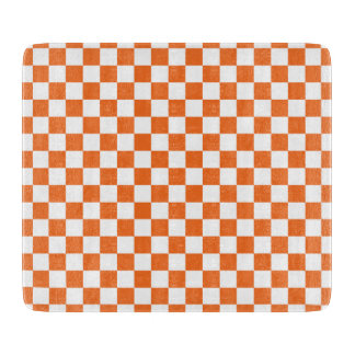 Orange Checkerboard Cutting Board
