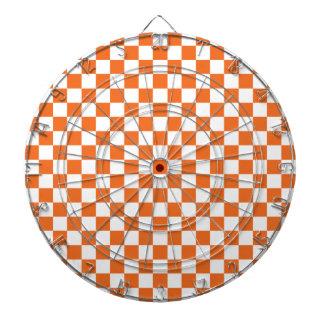 Orange Checkerboard Dartboard