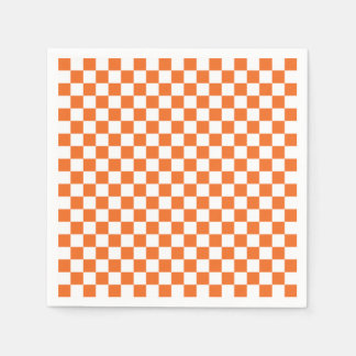 Orange Checkerboard Disposable Napkin