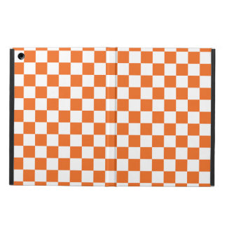 Orange Checkerboard iPad Air Case