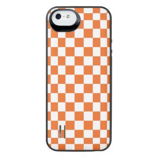 Orange Checkerboard iPhone SE/5/5s Battery Case