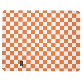 Orange Checkerboard Journal