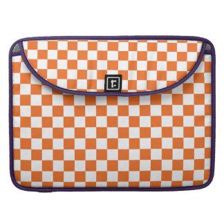 Orange Checkerboard MacBook Pro Sleeve
