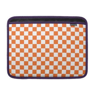 Orange Checkerboard MacBook Sleeves