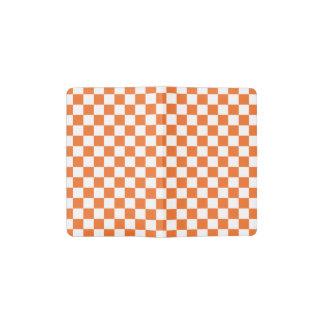 Orange Checkerboard Pocket Moleskine Notebook