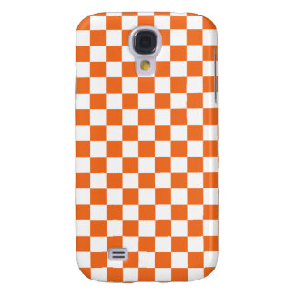 Orange Checkerboard Samsung Galaxy S4 Case