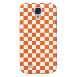 Orange Checkerboard Samsung Galaxy S4 Case
