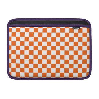 Orange Checkerboard Sleeves For MacBook Air