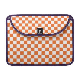 Orange Checkerboard Sleeves For MacBook Pro