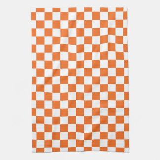 Orange Checkerboard Tea Towel