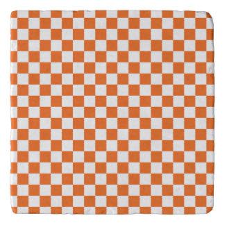 Orange Checkerboard Trivet